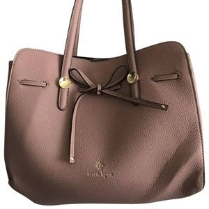 NANETTE LEPORE Large Leather Dusty Pink Handle Bag